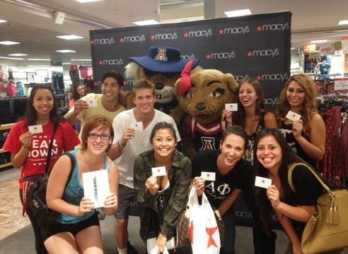 Students at a Back to School Brand Event